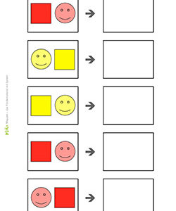 quadrat-kreis-2-farben-rot-gelb